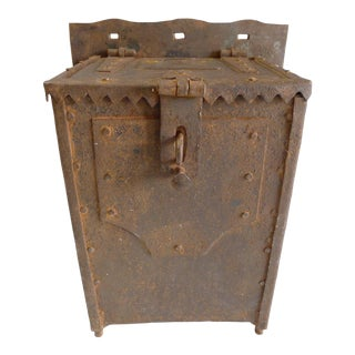 Antique German 18th Century Monastery Offering Alms Box For Sale