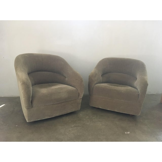 Pair of Ward Bennett Mohair Club Chairs For Sale - Image 12 of 12