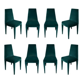 Stiletto Mohair Dining Chairs - Set of 8 For Sale