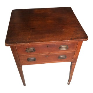 19th Century Traditional Two-Drawer Side Table For Sale