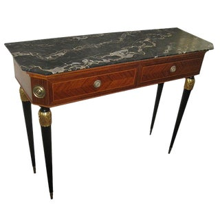 20th Century Italian Mahogany and Inlaid Kingswood Console Table For Sale