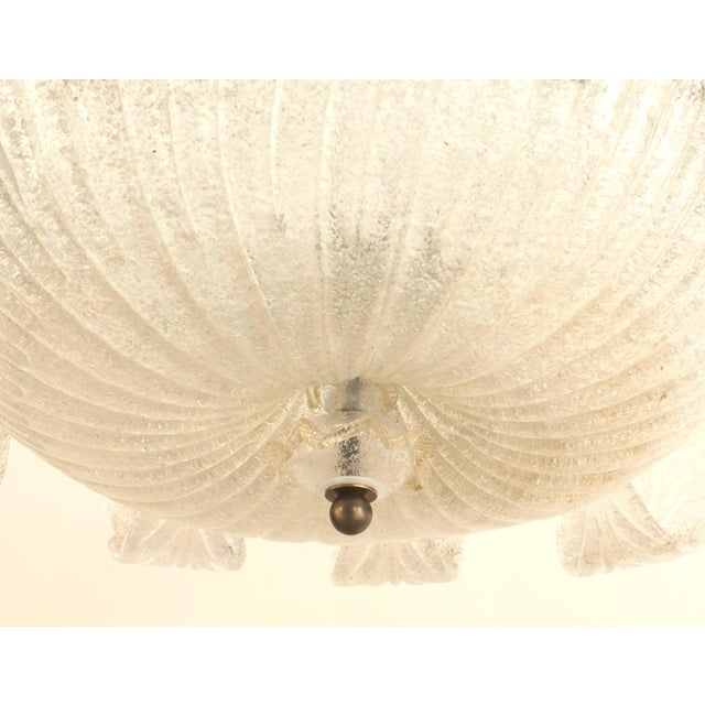 1940s 1940s Italian Murano Gold Dusted Chandelier by Barovier E Toso For Sale - Image 5 of 6