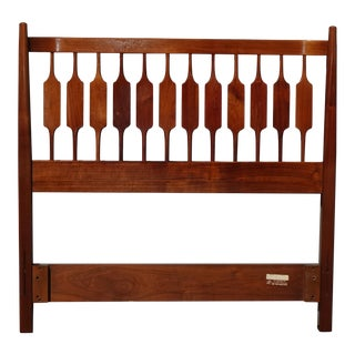 Vintage Kipp Stewart for Drexel Declaration Twin Size Walnut Headboard 1965 For Sale