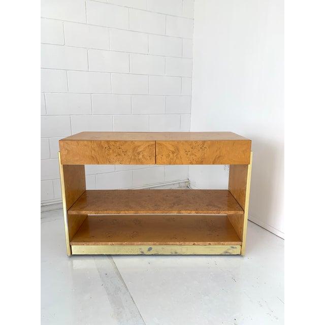 1970s Vintage Burlwood Dry Bar For Sale - Image 12 of 12