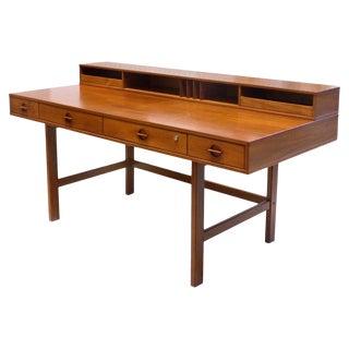 Danish Modern Flip-Top Teak Desk by Jens Quistgaard for Peter Løvig Nielsen For Sale