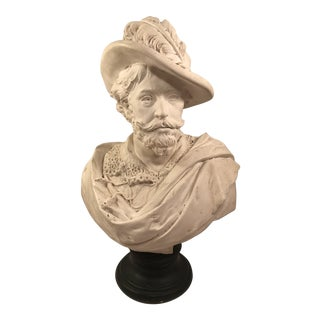 1960s Vintage Neoclassical Inspired Bust Sculpture For Sale