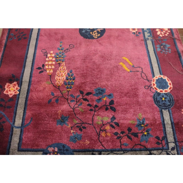 Early 20th Century Antique Art Deco Chinese Rug For Sale - Image 5 of 11