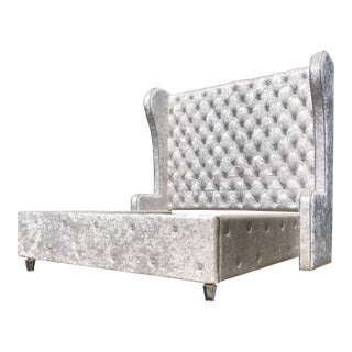 Tufted Crystal California King Bed For Sale