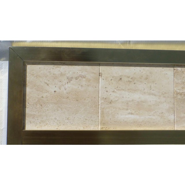 Post Modernist 1980's Travertine Mirror - Image 5 of 11