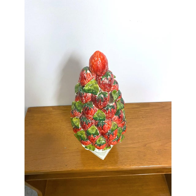Ceramic Vintage Italy Majolica Topiary Centerpiece For Sale - Image 7 of 9