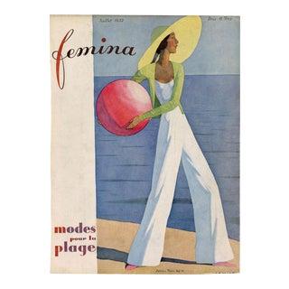 """Femina, July 1932"" Original Vintage French Magazine Cover For Sale"