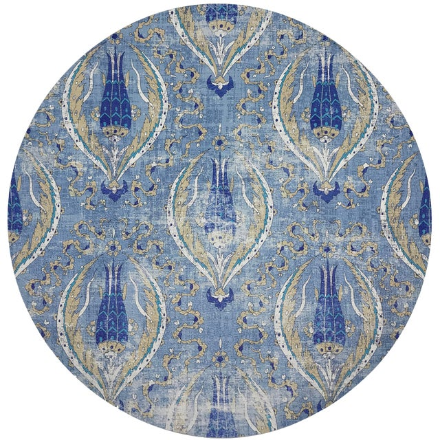 """Nicolette Mayer Byzantine Jewel Classic 16"""" Round Pebble Placemat, Set of 4 For Sale"""