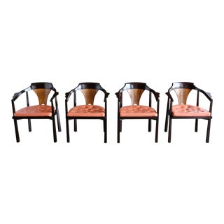 "1950s Vintage Edward Wormley for Dunbar ""Horseshoe"" Chairs- Set of 4 For Sale"