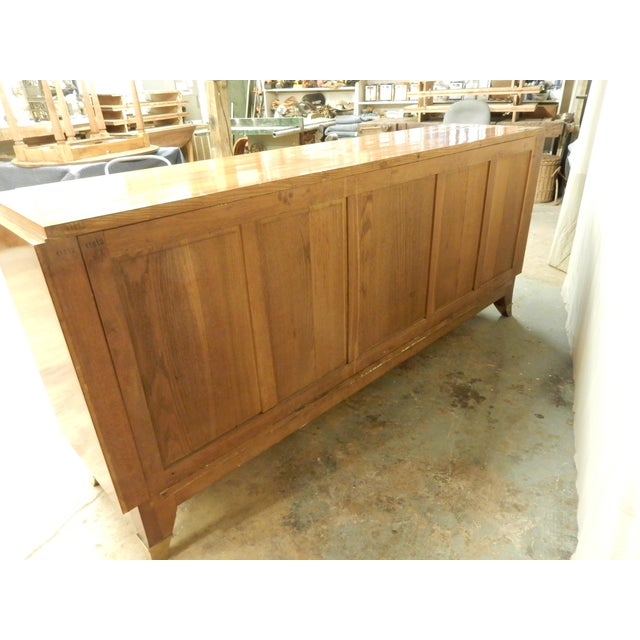1940's Large French Walnut Enfilade by Maurice Rinck For Sale - Image 11 of 12