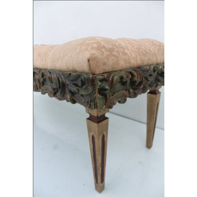 Dorothy Draper Regency-Style Tufted Bench For Sale In Miami - Image 6 of 9