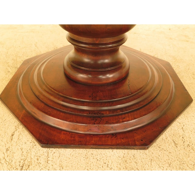 Wood Guy Chaddock Round Distressed Wood Dining Room Table For Sale - Image 7 of 8
