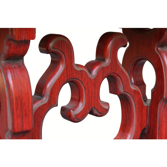 Chinoiserie Red Console Table - Image 5 of 6