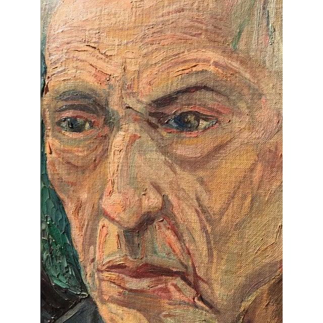 Mid-Century Portrait Painting - Image 3 of 4