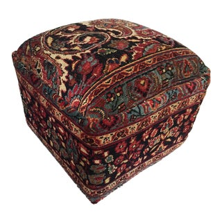 "LG Antique Tribal Bakhtiari Ottoman 18"" H"