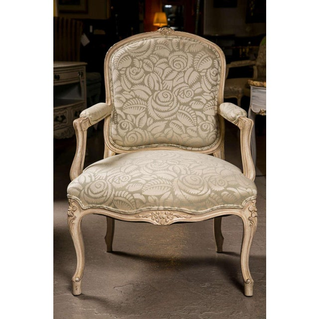 French Louis XV Style Armchairs - A Pair For Sale - Image 4 of 9