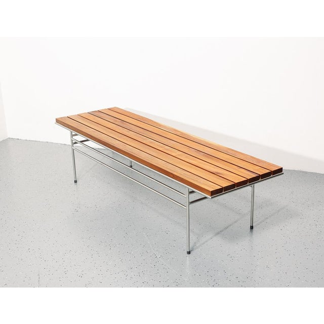 Slatted Coffee Table / Bench For Sale In New York - Image 6 of 6