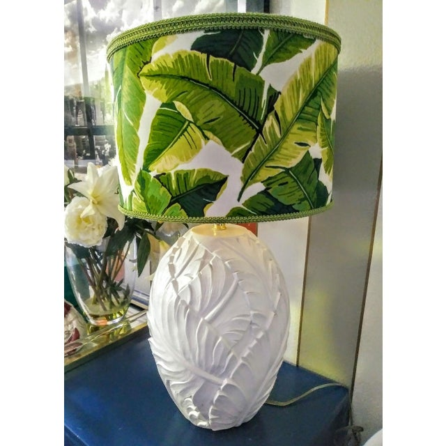 A Stunning pair of vintage Palm Beach Regency table lamps with custom made shades. These lamps have been repainted in high...