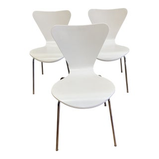Room & Board White Jake Chairs- Set of Three For Sale