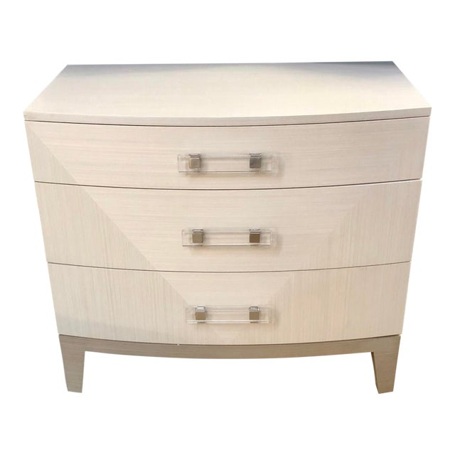 Contemporary White Dresser Nightstand For Sale