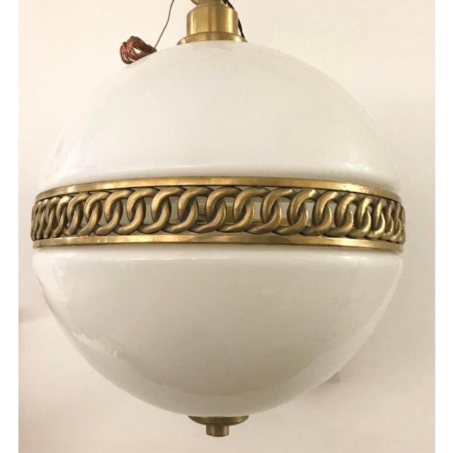 Visual Comfort Ralph Lauren Hendricks Small Globe Pendant For Sale - Image 9 of 12