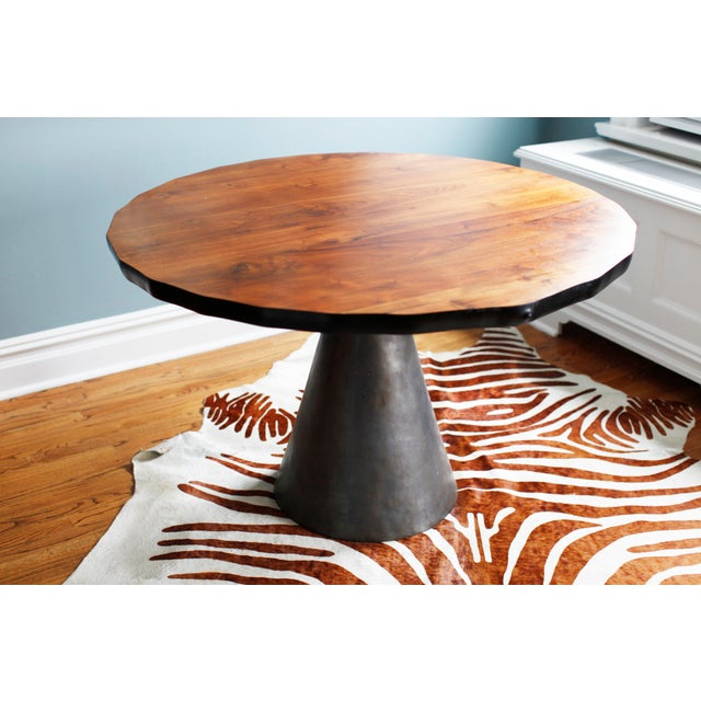 Industrial Organic Modernism Cone Dining Table For Sale - Image 3 of 5