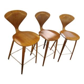 Modern Cherner Barstools- Set of 3 For Sale