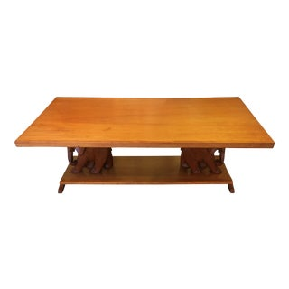 Teak Elephant Cocktail Table For Sale