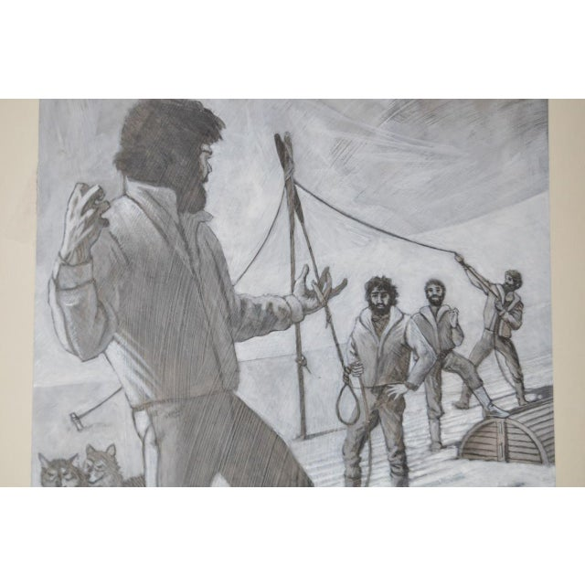 "Jack London Short Story Illustration ""The Man with the Gash"" by Peter Thorpe c.1980 For Sale - Image 4 of 5"