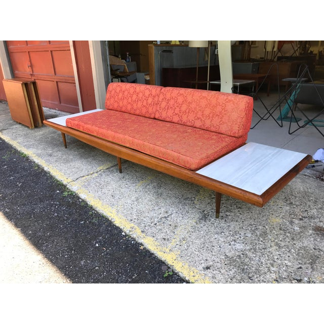 "113""wide Pearsall Style Sofa Daybed Marble Mid Century Modern Yugoslavia - Image 7 of 11"