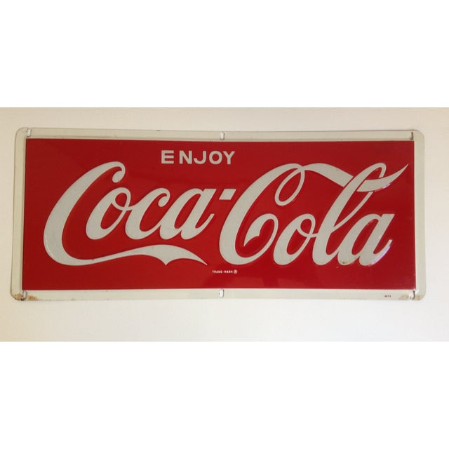 Coca-Cola Metal Tin Enamel Sign - c.1969 - Image 2 of 4