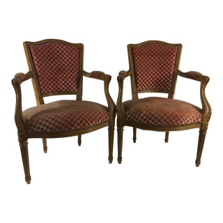 Louis XV Style Beechwood Side Chairs - a Pair For Sale