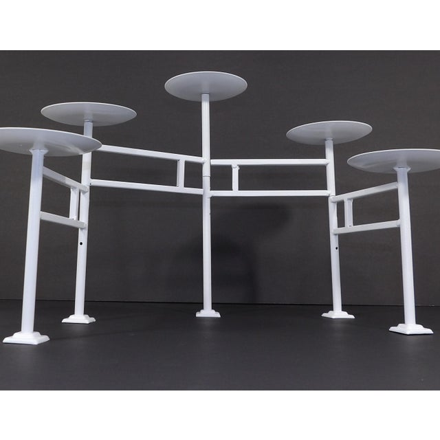 20th Century Danish Modern White Metal Articulating Mantle Candle Holder For Sale - Image 4 of 7