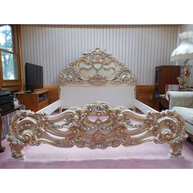 Italian Style Cherub California King Bedframe - Image 2 of 11