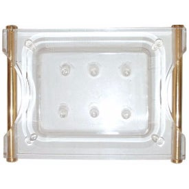 Lucite And Brass Catchall Tray