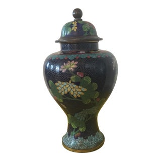Cloisonne Vase With Lid For Sale