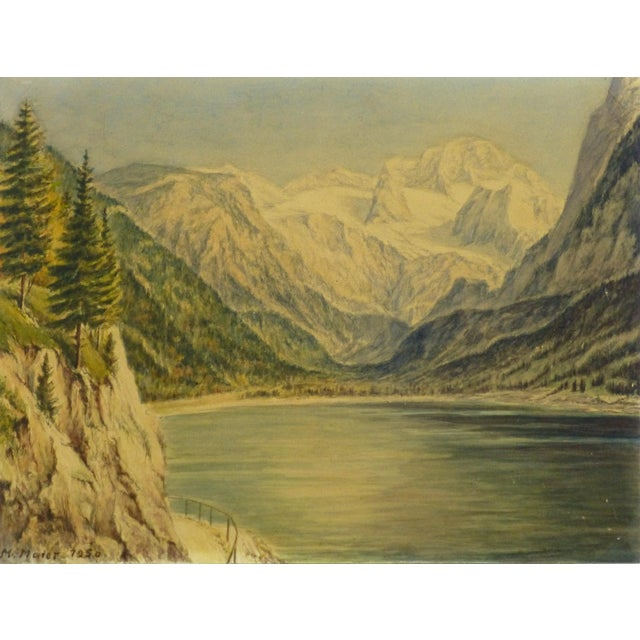 1950 Vintage Original Watercolor, Majesty's Point - Image 1 of 4