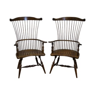 Frederick Duckloe Windsor Gentlemans Arm Chairs - A Pair