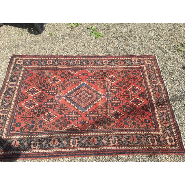 "Gorgeous Persian Vintage Wool Rug - 51"" x 73"" - Image 5 of 5"