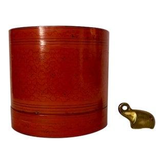 Vintage Burmese Lacquerware Betel Box