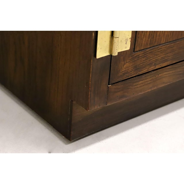 Henredon Scene One Campaign Style Armoire Cabinets - Pair For Sale - Image 10 of 13
