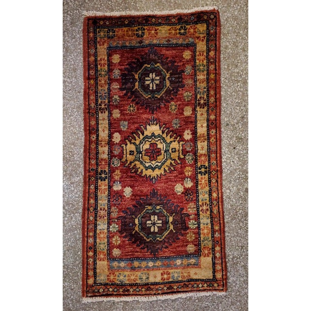 """Afghan Tribal Red Rug-1'8'x3'3"""" For Sale - Image 4 of 7"""