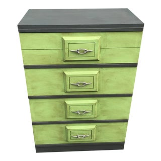 1960s Mid Century Modern Four Drawer Highboy Dresser For Sale