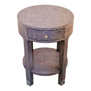 Bungalow 5 Dakota Round 1 Drawer Side Table For Sale