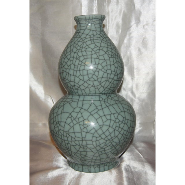 Chinese Crackle Celadon Vases - Set of 3 For Sale In Little Rock - Image 6 of 7
