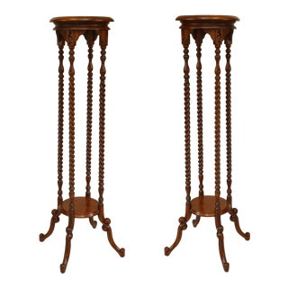 19th Century English Swirl Design Pedestals - a Pair For Sale